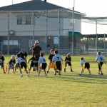 youth flag football teams playing