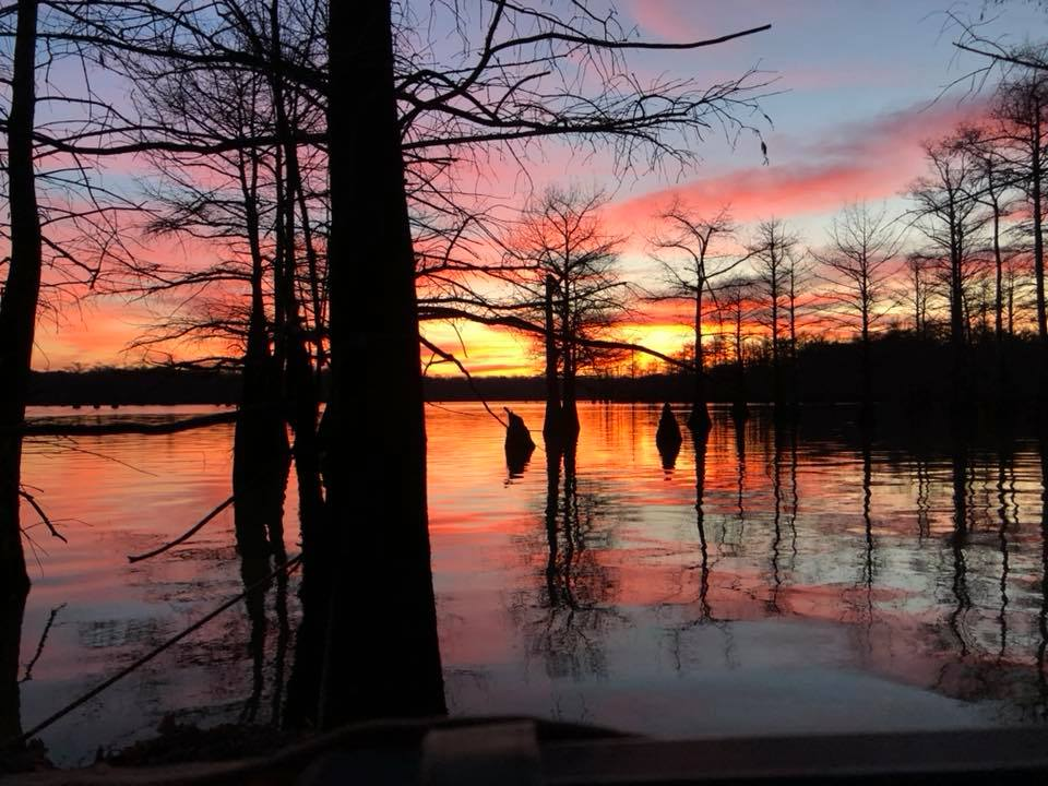 sunrise at saint francis river southeast of trumann arkansas december 20, 2017