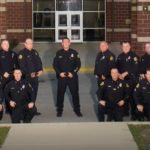 trumann police department officers and staff posing for picture