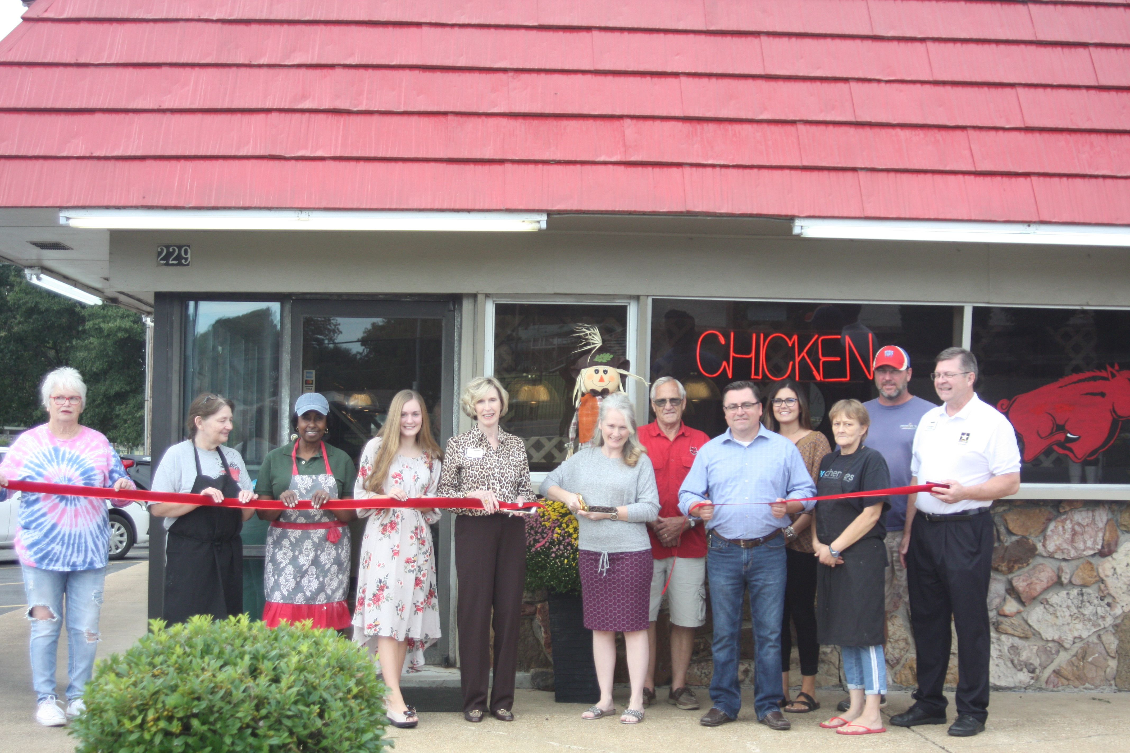 Ribbon Cutting at Al's Bar-B-Que