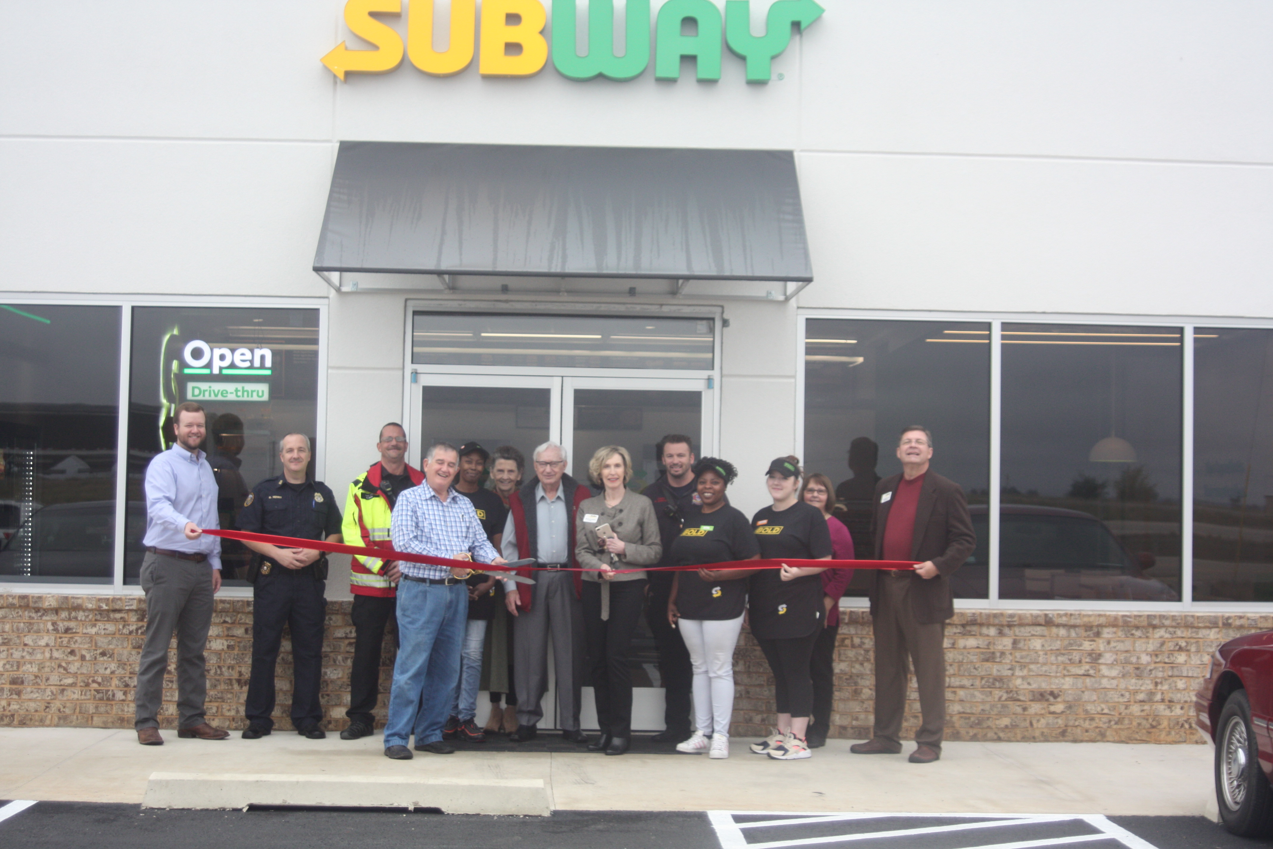 Ribbon cutting ceremony for Subway in Trumann