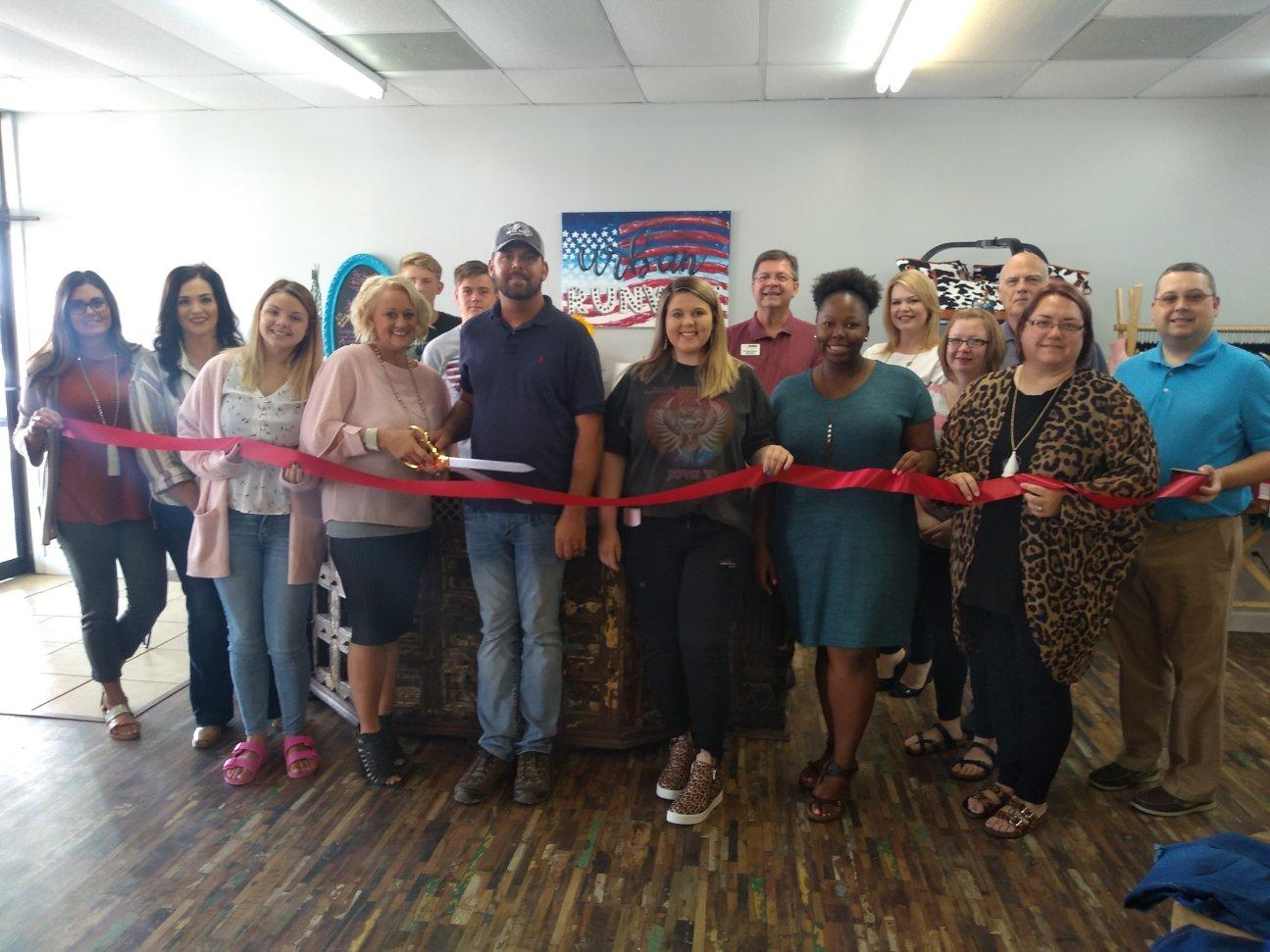 Ribbon cutting for Urban Runway