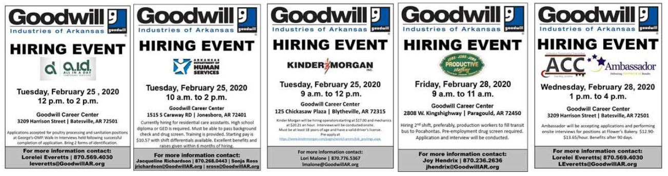 graphical ads for jobs in the area