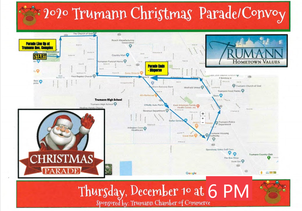 2020 Christmas Parade Route